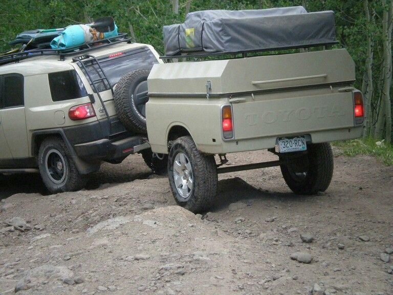 Toyota truck bed trailer | camp trailer | Pinterest ...