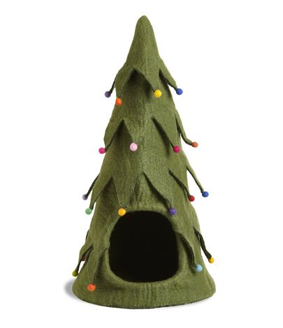 Who doesn't love a Christmas kitty? Your cat can have its own Christmas tree.