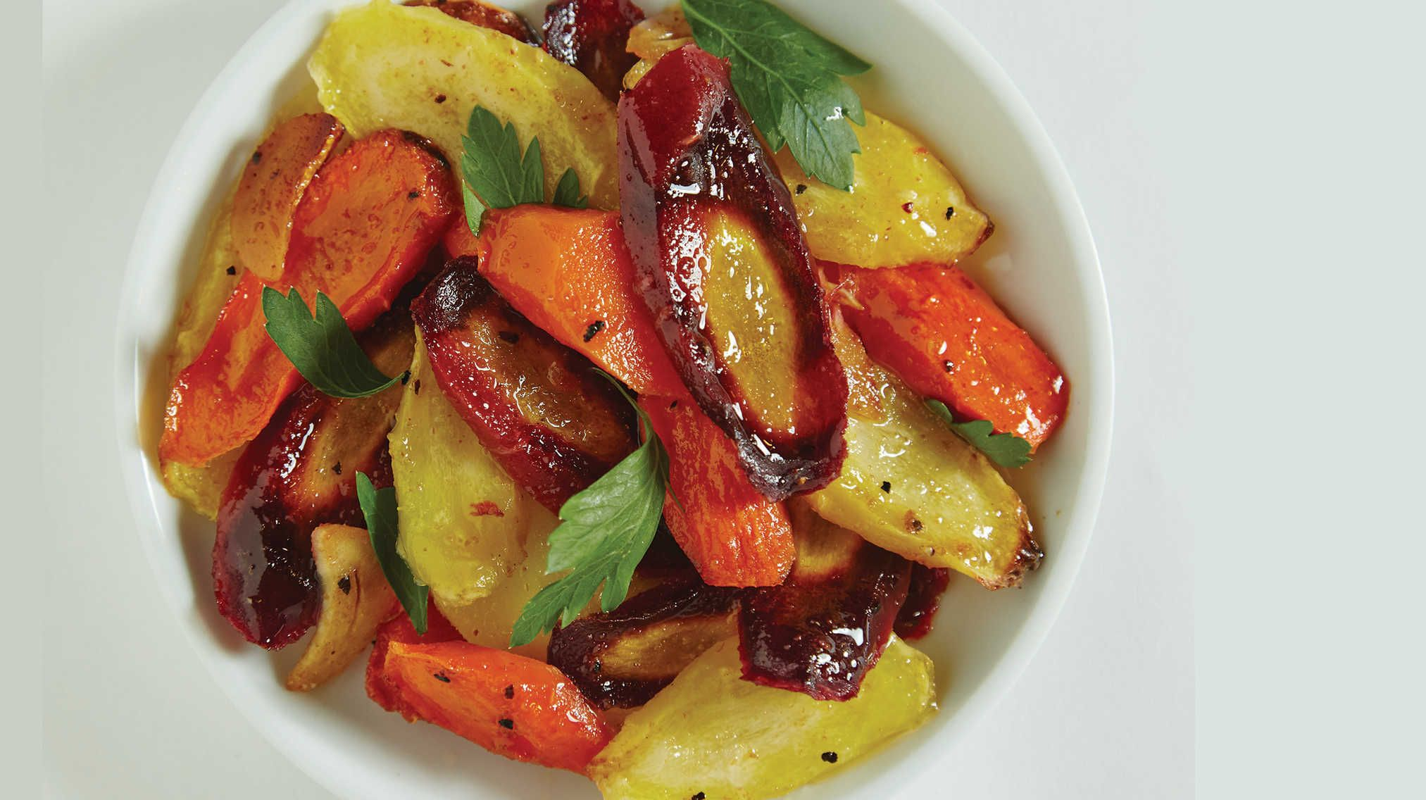 Sweet and Spicy Moroccan Carrots.