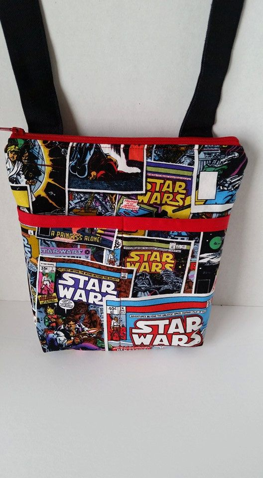 Hey, I found this really awesome Etsy listing at https://www.etsy.com/listing/255841066/star-wars-comic-book-crossbody-bag