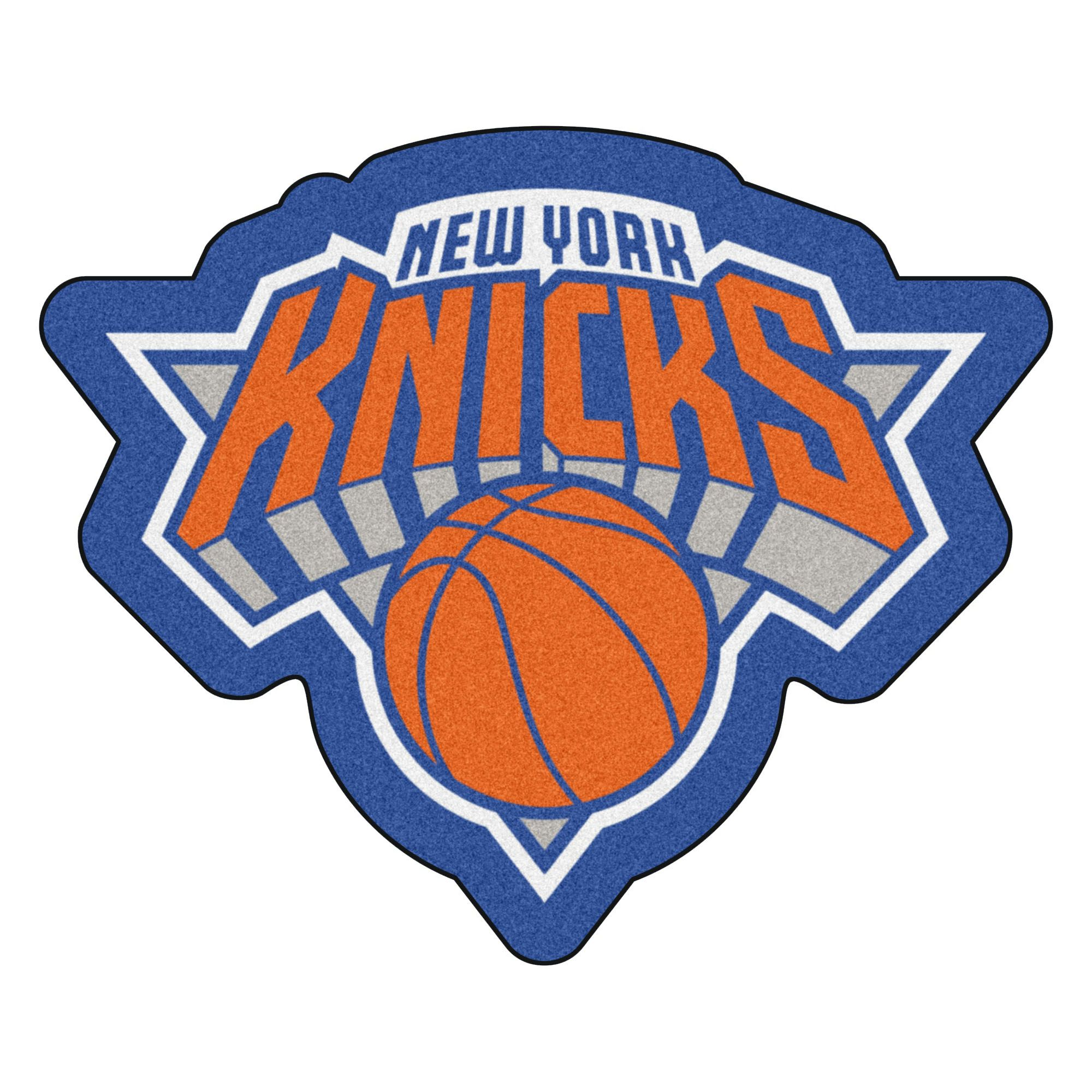 Nba New York Knicks Mascot Novelty Logo Shaped Area Rug In 2020 Nba New York New York Knicks Knicks Team