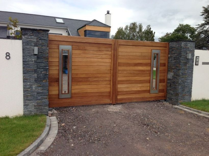 60 amazing modern home gates design ideas gate gates for Modern house gate