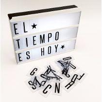 Cartel Luminoso Frases Letras Decoración Tipo Cine Light Box