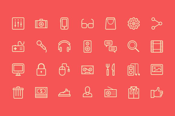 Outline Live Icons Creative Market Icon Web Design