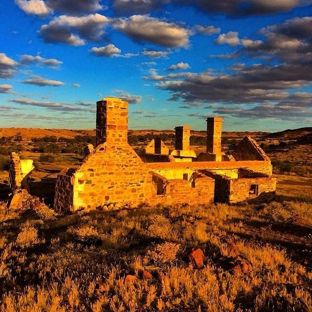 Outback Ruins Along The Oodnadatta Track In Northern