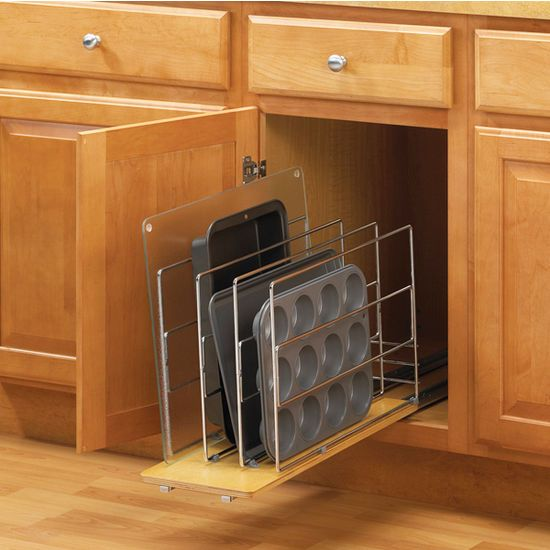 9 Knape Vogt TDRO Tray Divider Roll Out   Wood Wire   Frosted Nic Cabinet  And Drawer Organizers