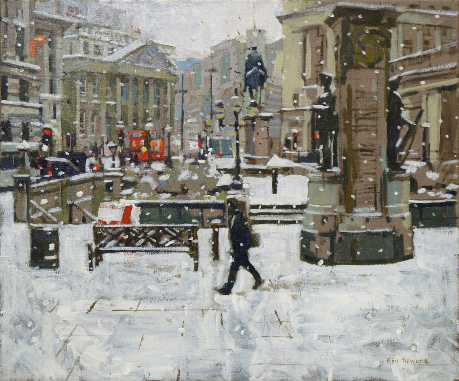 Kenneth Howard Obe Ra 1932 Impressionist Plein Air Painter Ken Howard English Art Snow Effect