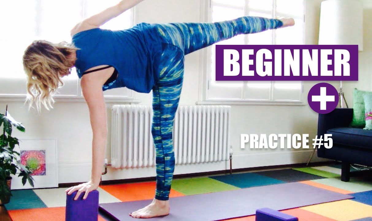BEGINNER+ YOGA FLOW Half Moon, Warrior 3, Balance, Standing Poses  // Be...