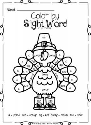 Thanksgiving color by sight word printables 10 printables from thanksgiving color by sight word printables 10 printables from kindertykes on teachersnotebook sciox Choice Image