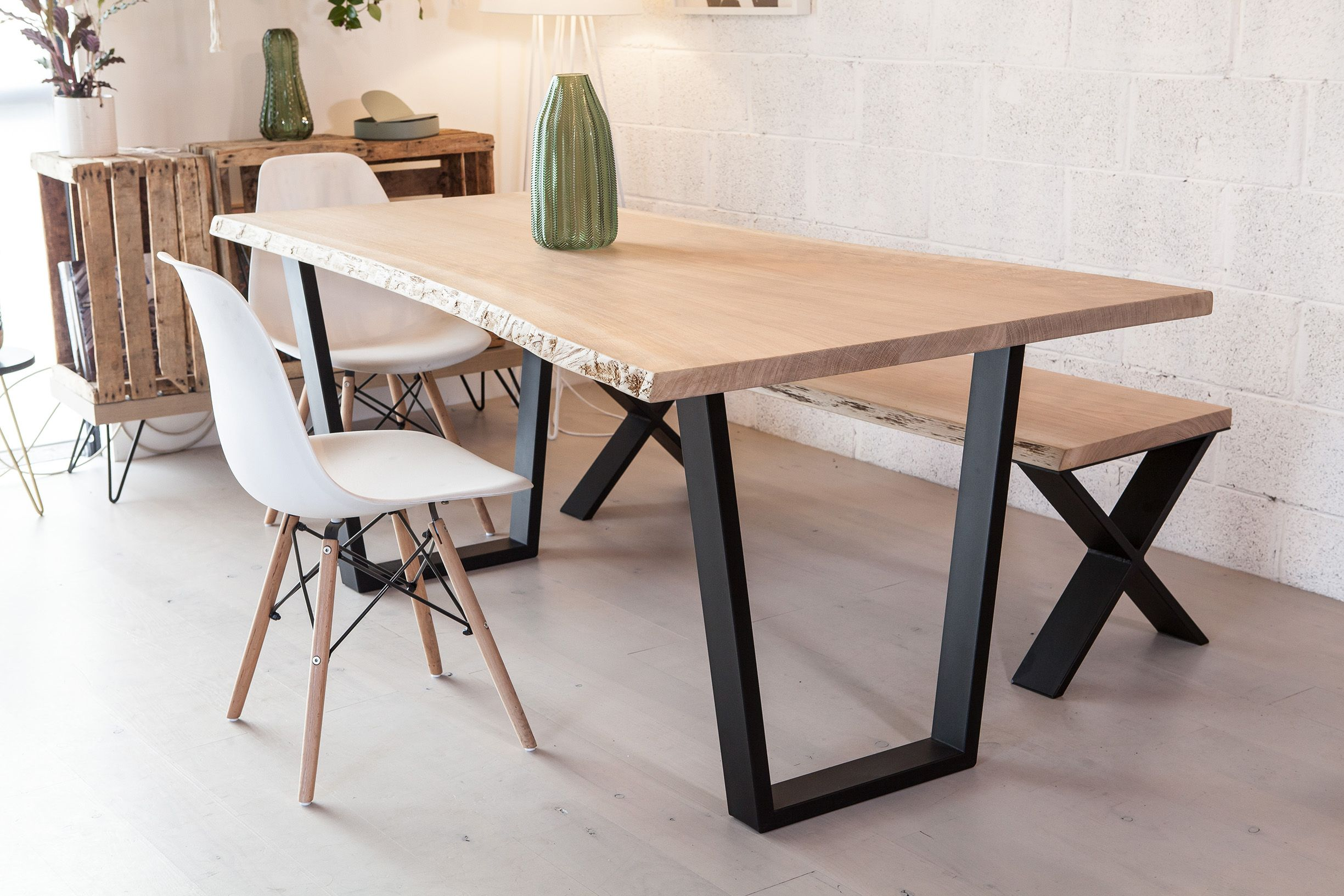 Pied De Table 71cm Trapeze La Fabrique Des Pieds La Fabrique Des Pieds Pieds De Table Table A Manger Industriel