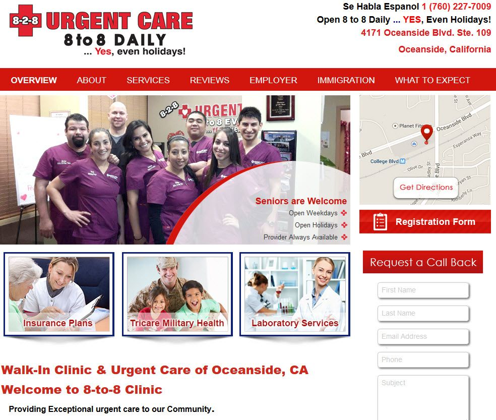 WalkIn Clinic & Urgent Care of Oceanside, CA Urgent