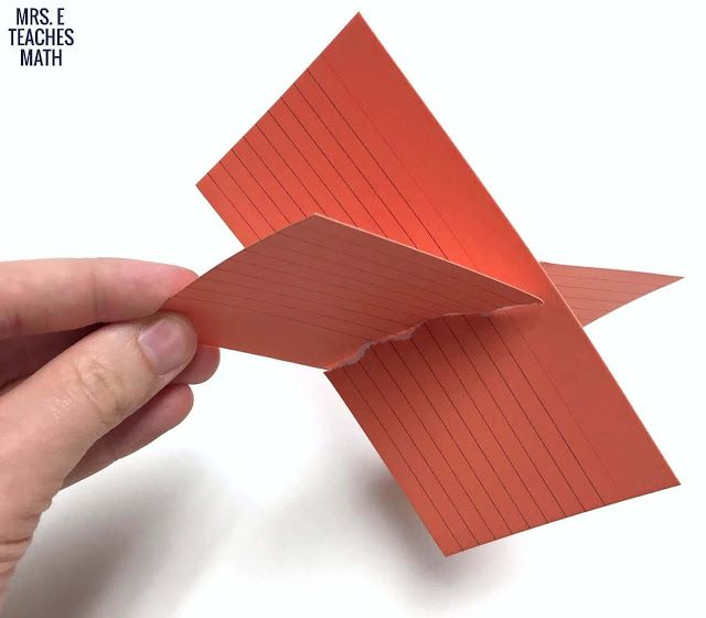 Visualizing Intersecting Planes | Teaching geometry, High ...