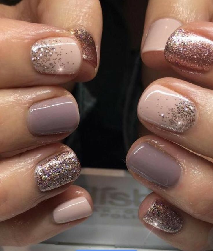 Pale Pink, Gray, Sparkles And Rose Gold