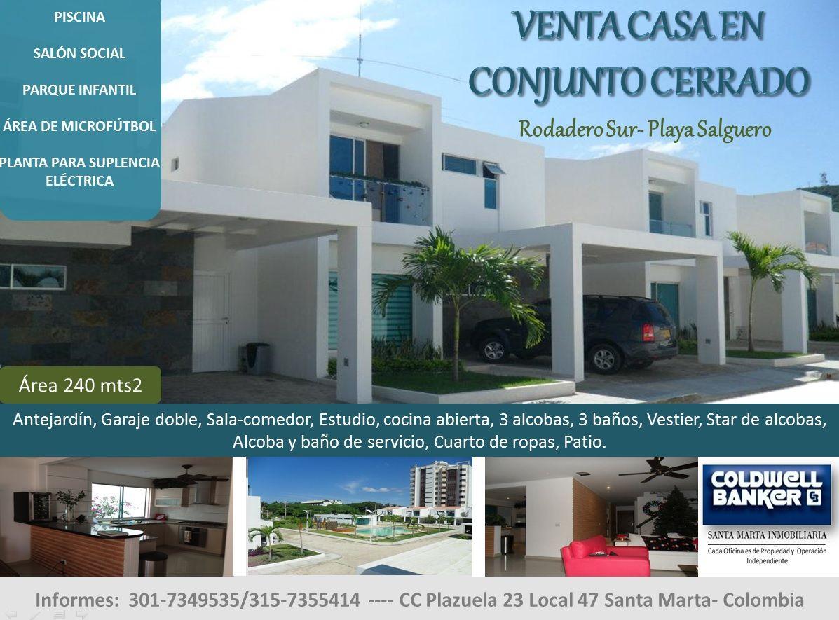Casa en venta Conjunto Cerrado, Playa Salguero, Santa