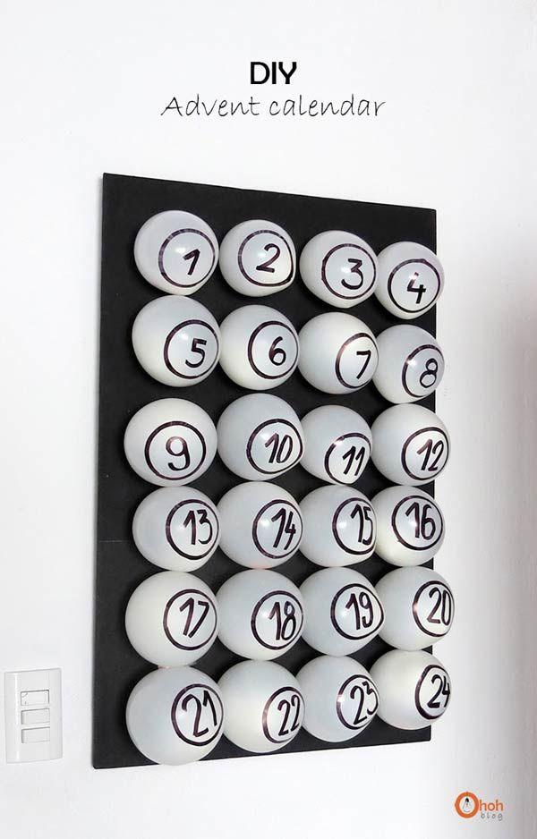 10 calendriers de l'avent à fabriquer pour ce noël #calendrierdelaventfaitmaison