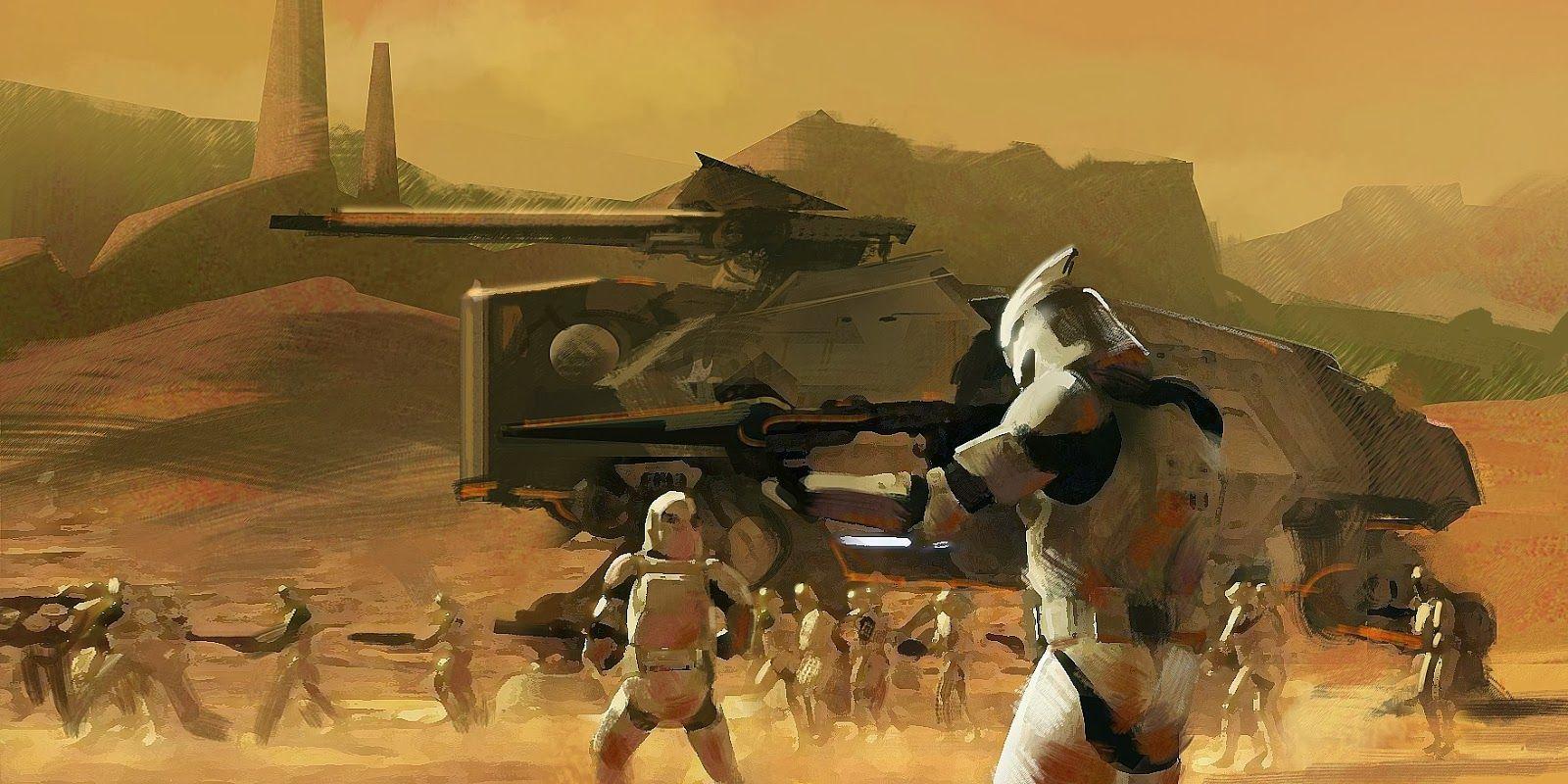 Battle Of Geonosis Star Wars Background Star Wars History Star Wars Images