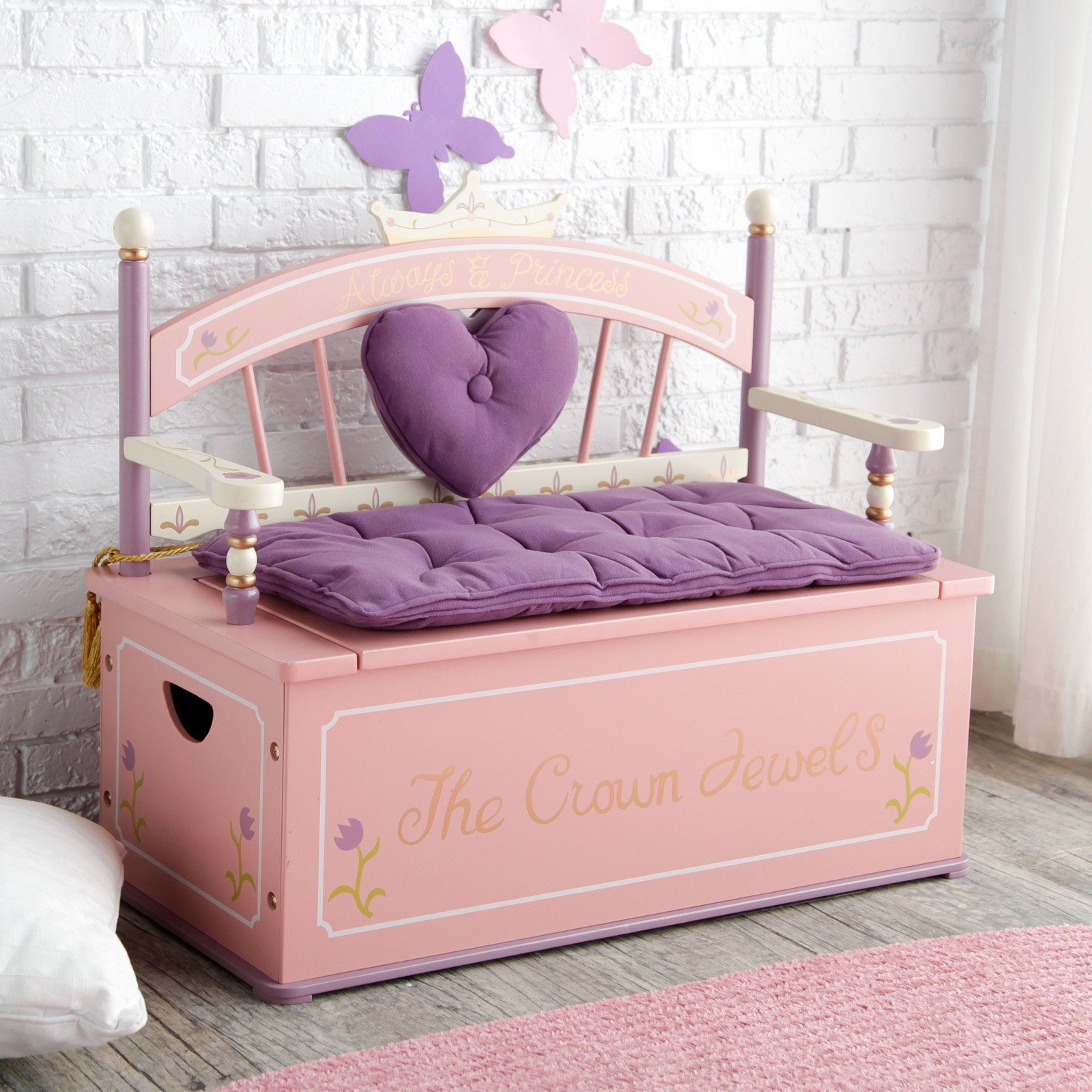 Levels Of Discovery Royal Princess Toy Box Bench Kid Toy Storage