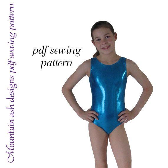 Leotards 1 pattern gymnastics gym ballet dance girls pdf sewing ...