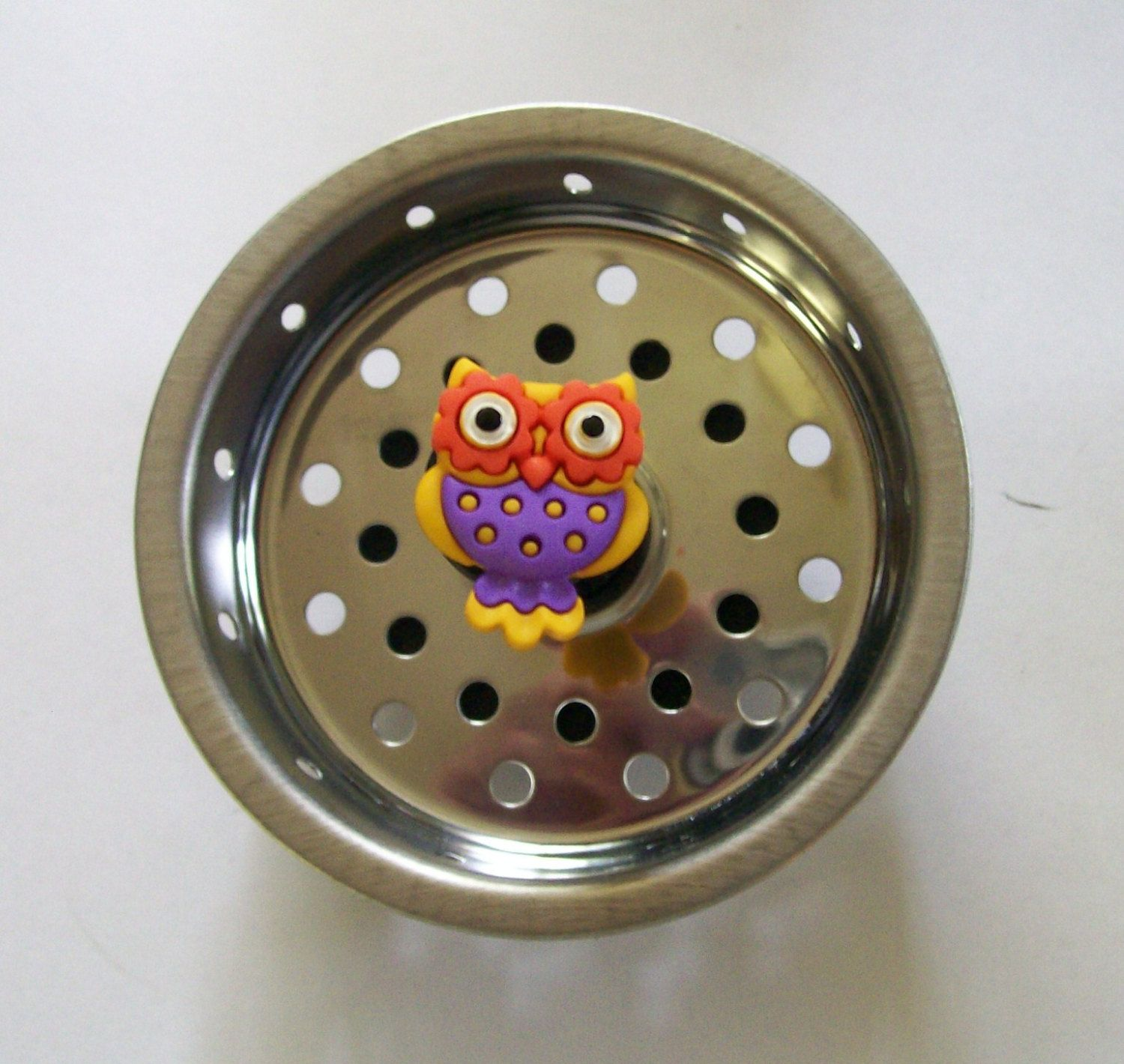 Colorful owl kitchen sink strainer basket sink drain plug stopper owl sinks and sink strainer - Decorative kitchen sink strainers ...