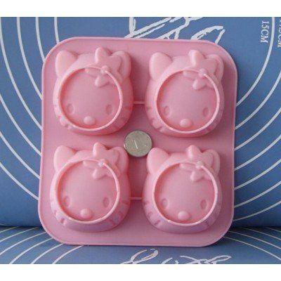 Hello Kitty silicone mold for soap candles candy jelly cake
