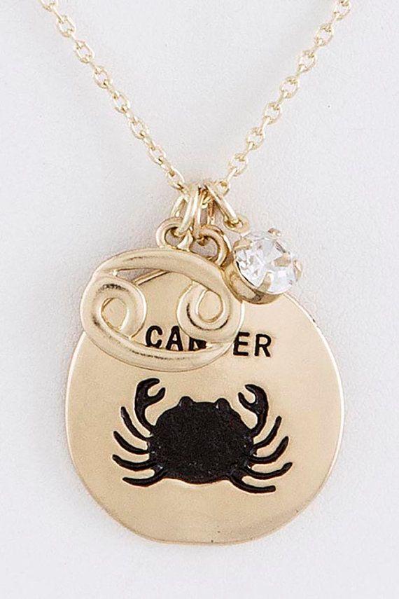 Cancer zodiac charm necklace zodiac jewelry by lavishmeboutique cancer zodiac charm necklace zodiac jewelry by lavishmeboutique aloadofball Choice Image