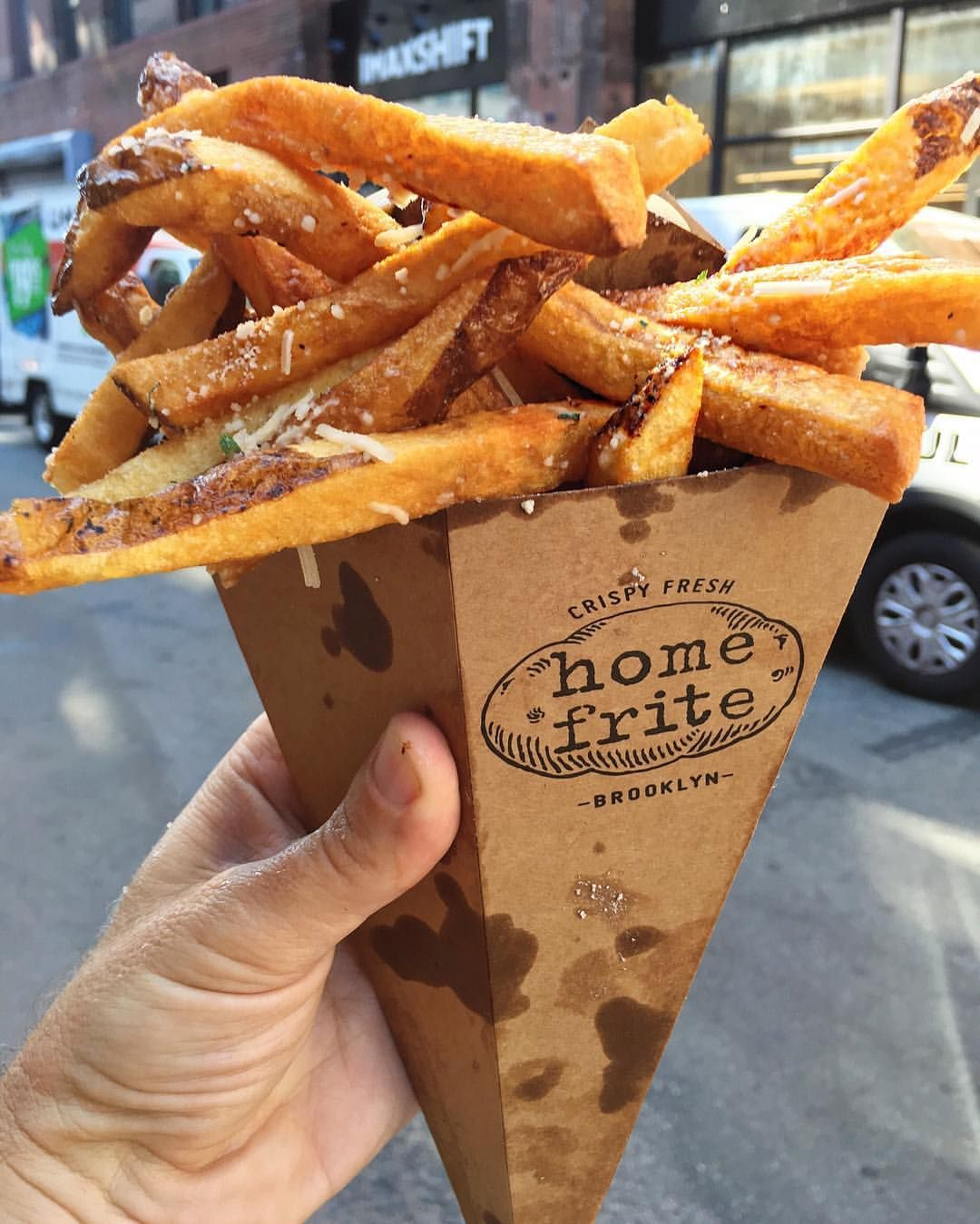 Home frites by @scottlipps #fries #smorgasburg @smorgasburg (at DUMBO Brooklyn…