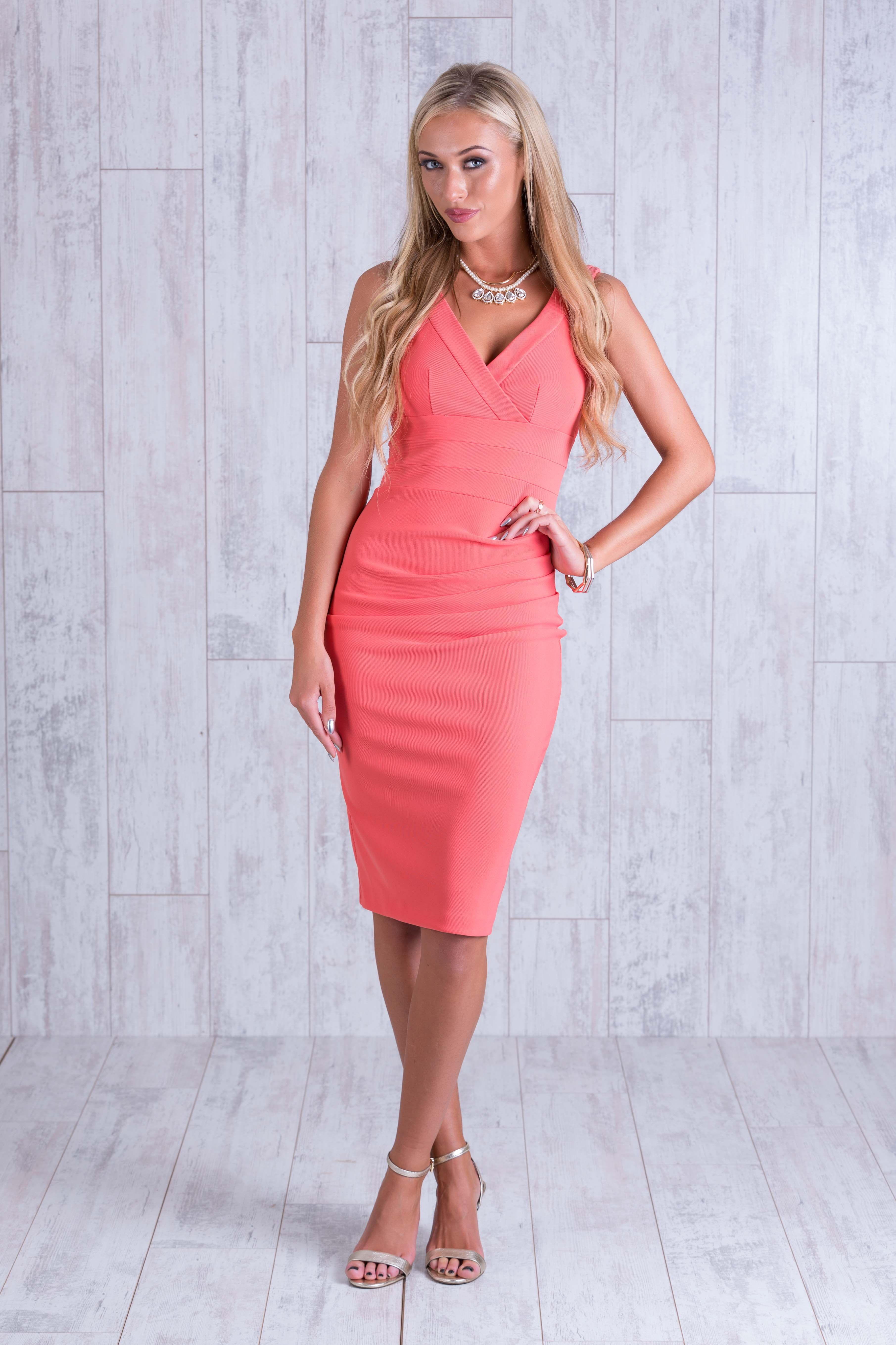 coral Banbury dress dress for wedding dress for day at races party ...