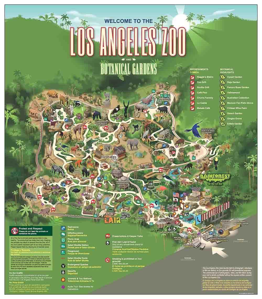 La Zoo Botanical Gardens Map Cali Pinterest Zoos