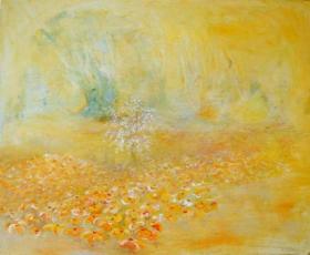 Ambre 38x46cm : peinture à l'huile sur toile