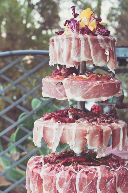 Wedding In Palinuro Meat Cake Wedding Reception Food Wedding