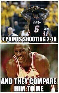 Michael Jordan Lebron James Funny Nba Memes Nba Memes Funny Basketball Memes