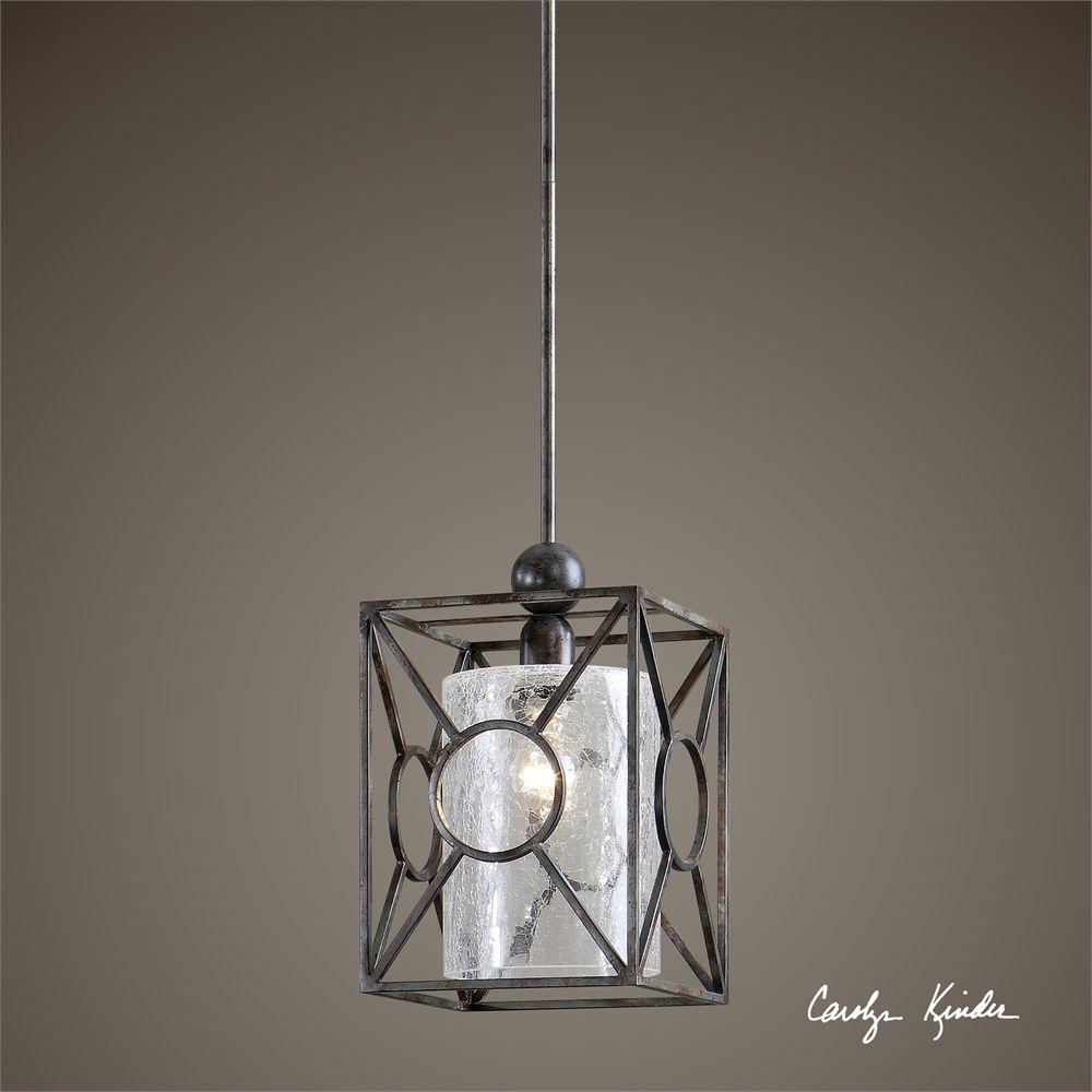uttermost arbela 1 light mini pendant - Uttermost Lights