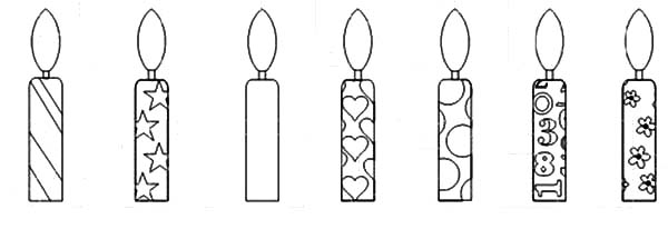 Birthday Candle Coloring Pages Netart Colorful Candles Coloring Pages Birthday Candles
