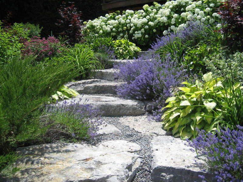 Purple hillside garden gorgeous gardens pinterest for Hillside rock garden designs