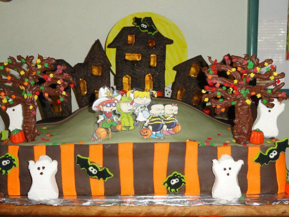 Rug rats halloween birthday cake wwwcakesarah Cakes By Sarah - halloween decorated cakes