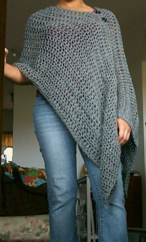 Poncho Or Nursing Cover Pattern Make Pinterest Crochet