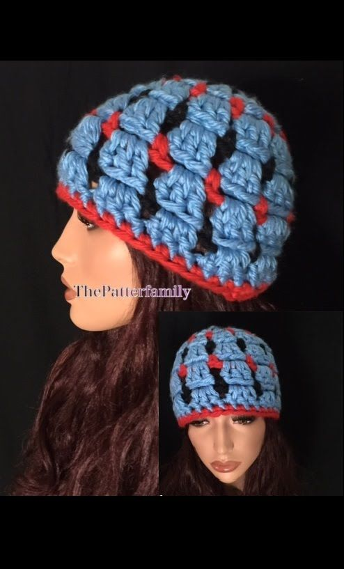 b5dd138c886 How to Crochet Tricolour Block Stitch Beanie Hat Pattern  58│by ThePatte.