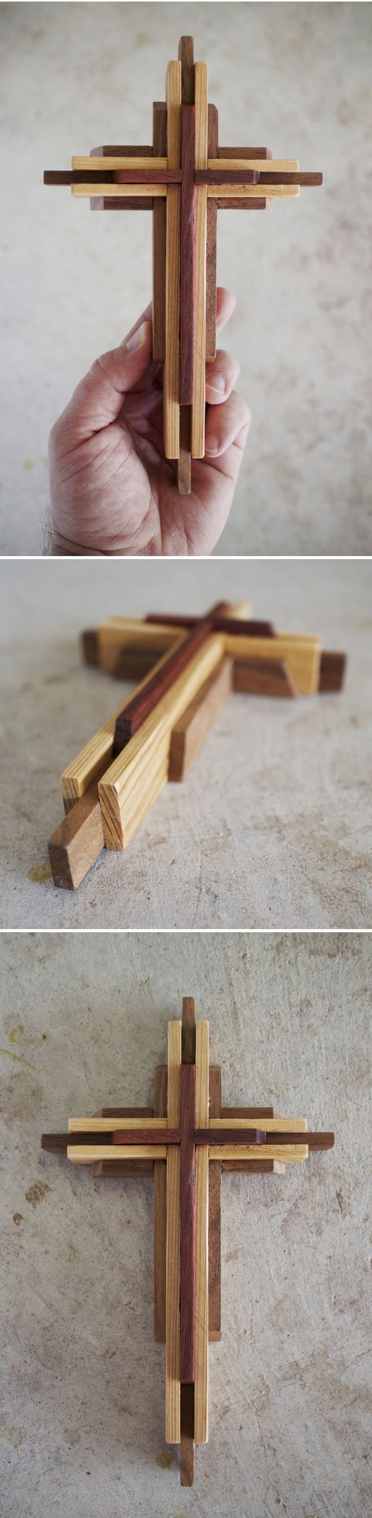Black and white large cross one of a kind reclaimed wood cross diy 9 inch wood cross plans amipublicfo Gallery