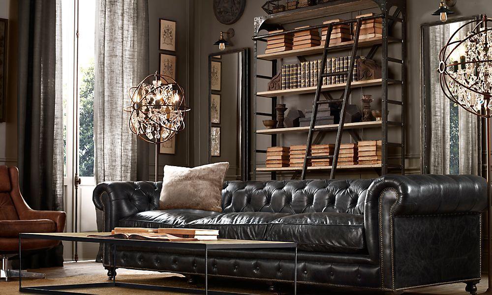 Restoration Hardware Rooms Kensington 118 Sofa Classic