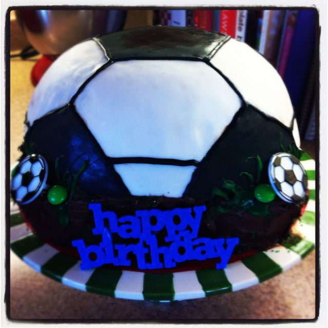 Soccer birthday cake :)