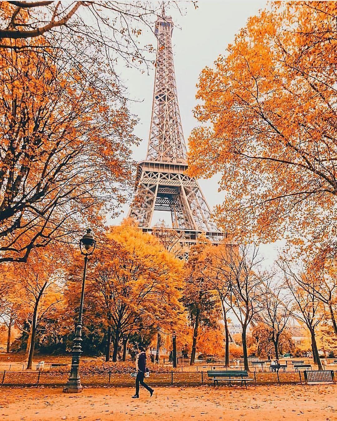 Autumn In Paris France Eiffel Tower Autumn Photography