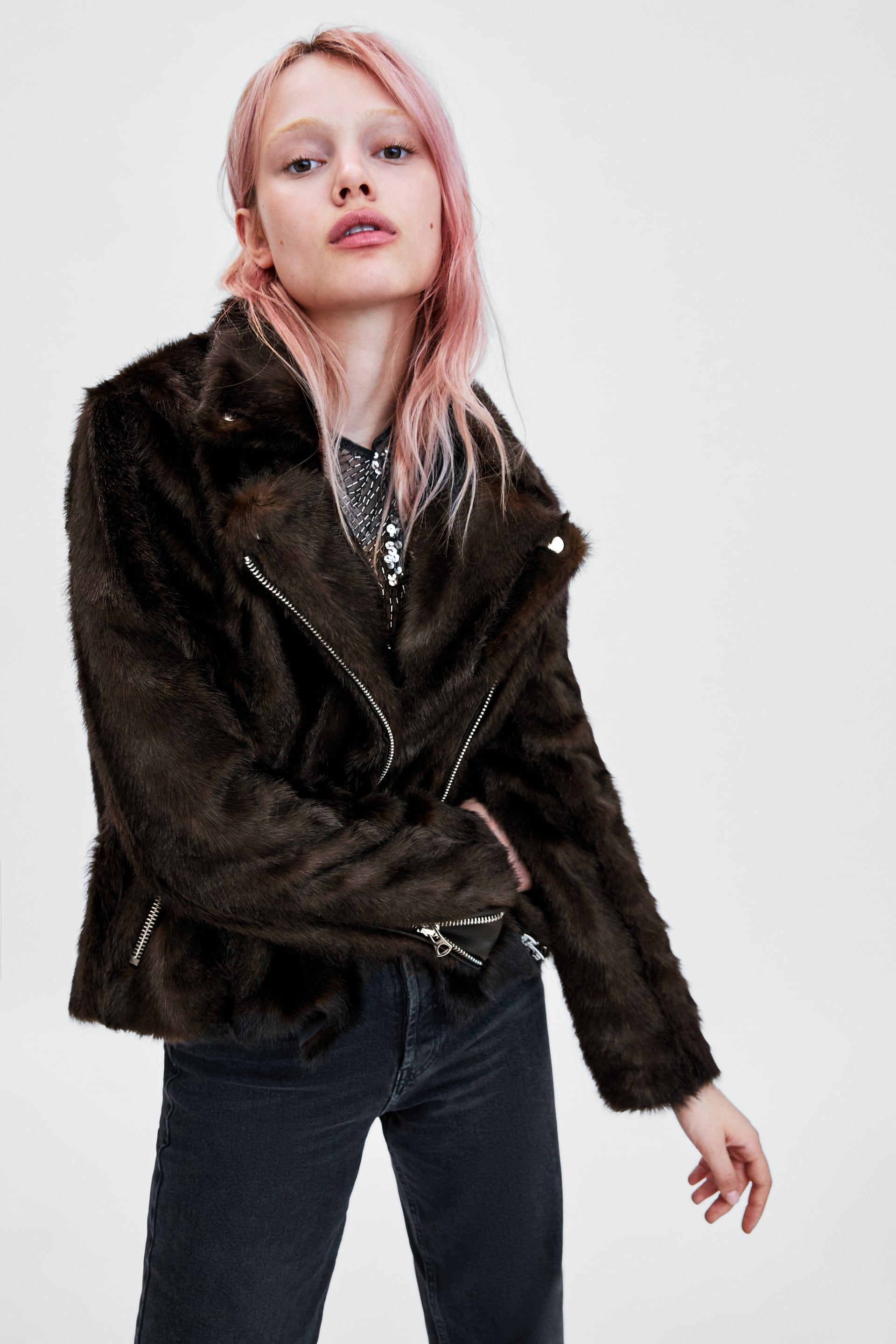 a8975da4 Faux fur biker jacket in 2019 | Fall 2018 | Faux fur biker jacket ...
