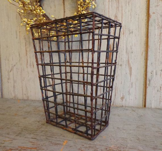 primitive antique animal trap basket by AntiqueShopGirl on Etsy