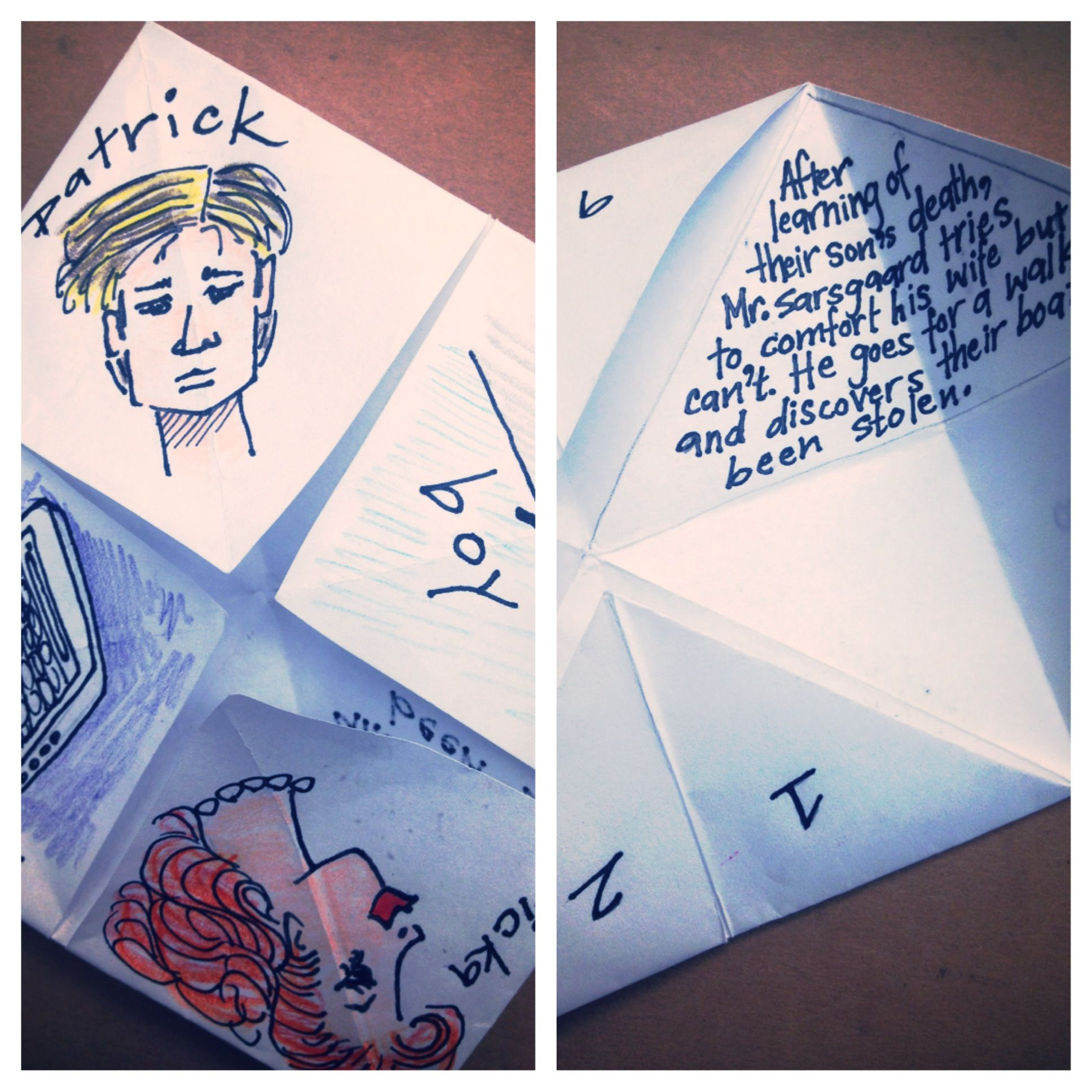 Fun Book Report Idea Using Paper Fortune Tellers Great