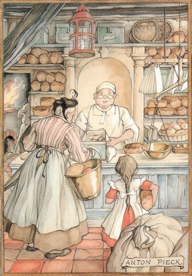The Baker by Anton Pieck, 1897-1987, collection of mirjam Bruck-Cohen
