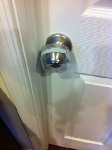 DIY Door Knob Childproofing | Diy door knobs, Childproofing and Door ...