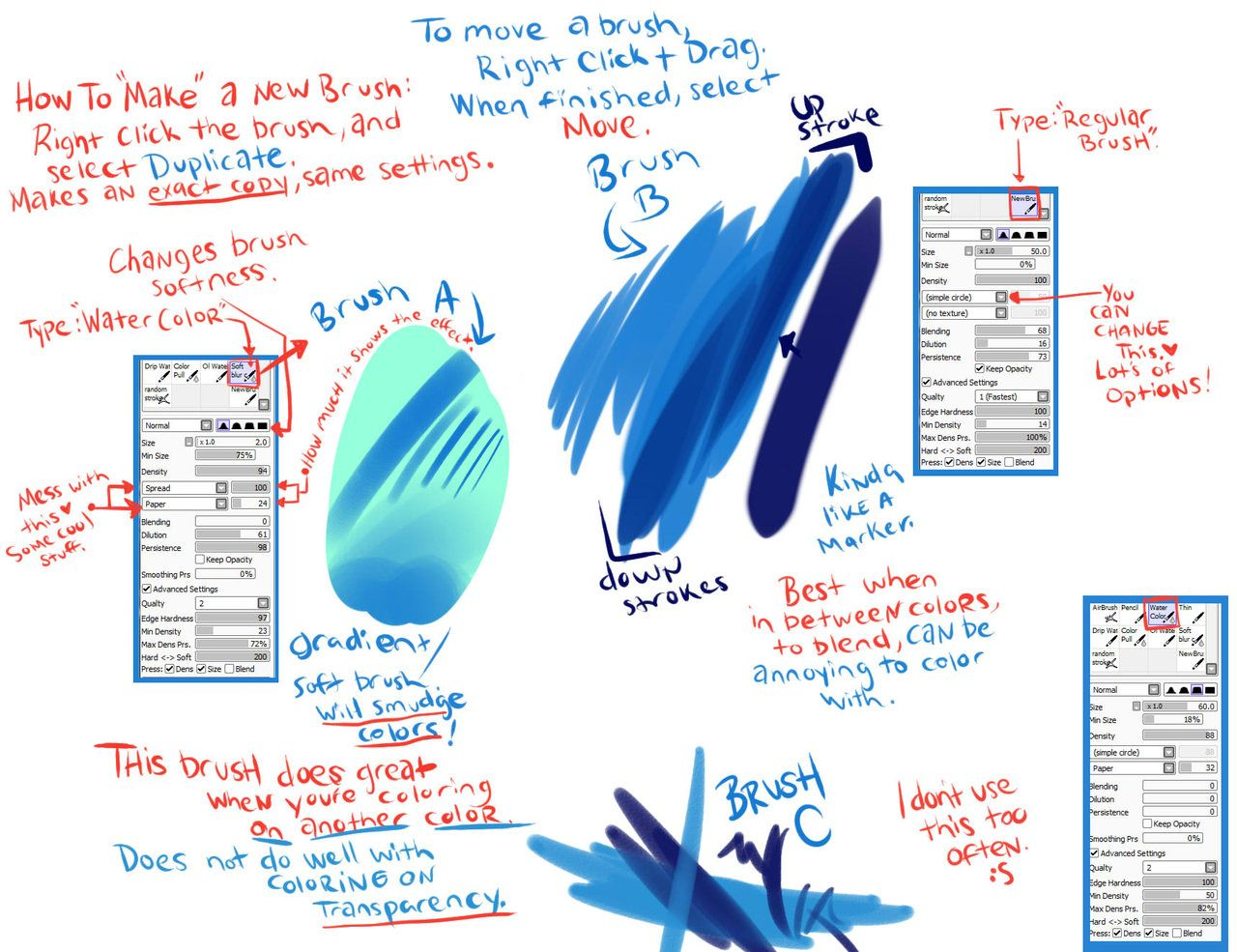 Brush Settings by DarkVow