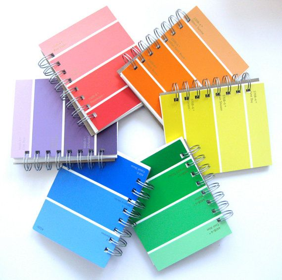 Notebook  Cumple Colores    Etsy Paint Chips And