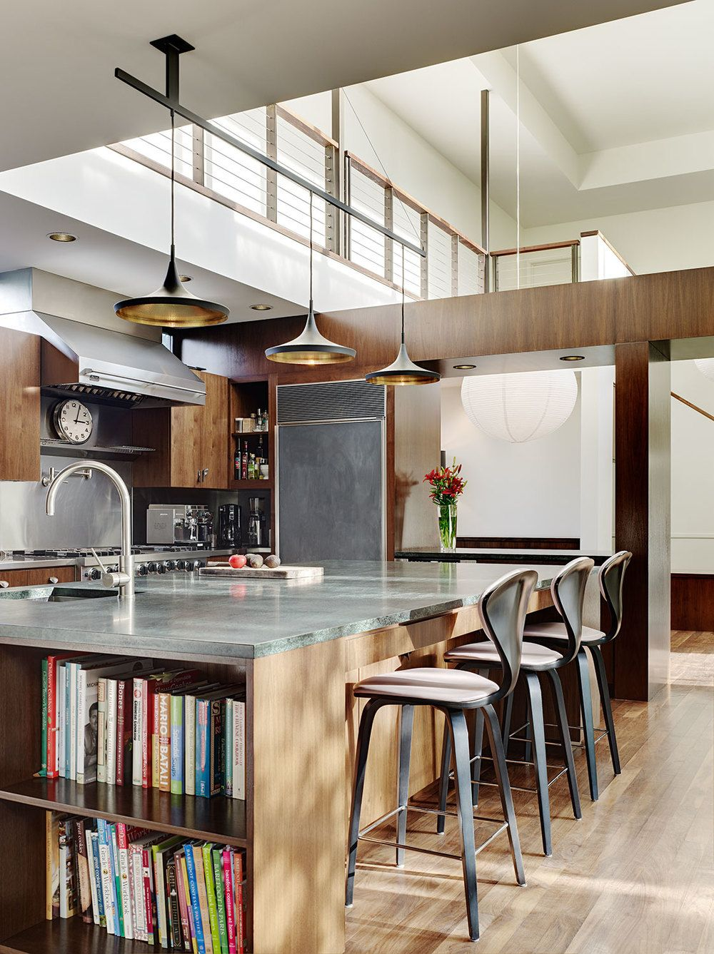 Best Modern Kitchen Design With Built In Island Book Shelf And 400 x 300