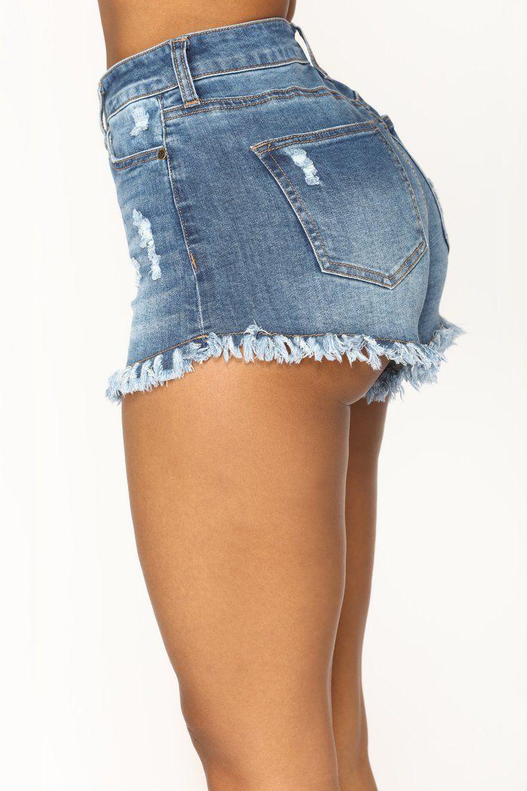 Sugar Beach Denim Shorts - Medium Blue Wash